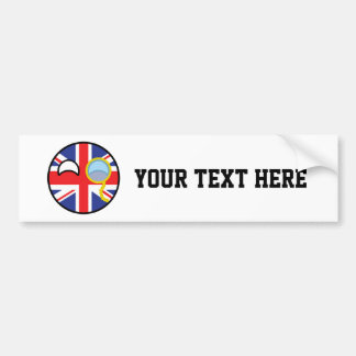Funny Trending Geeky United Kingdom Countryball Bumper Sticker