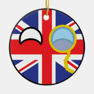 Funny Trending Geeky United Kingdom Countryball Ceramic Ornament