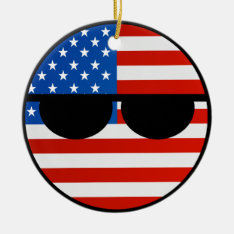 Funny Trending Geeky Usa Countryball Ceramic Ornament at Zazzle