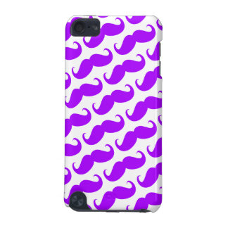 Funny Trendy Purple Neon Mustache Pattern iPod Touch (5th Generation) Covers