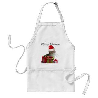Funny trendy Santa wise cat Christmas Apron