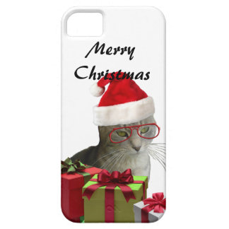 Funny trendy Santa wise cat Christmas iPhone SE/5/5s Case