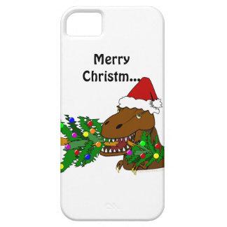 Funny Trex Dinosaur Christmas Tree iphone 5 Cover