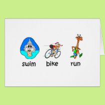 Funny triathlon card