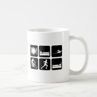 Funny triathlon coffee mug