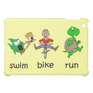 Funny triathlon iPad mini case