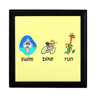 funny triathlon jewelry box