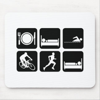 Funny triathlon mouse pad