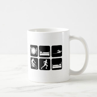 Funny triathlon classic white coffee mug