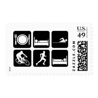 Funny triathlon postage