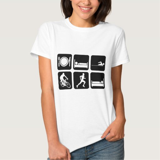 Funny triathlon tee shirt