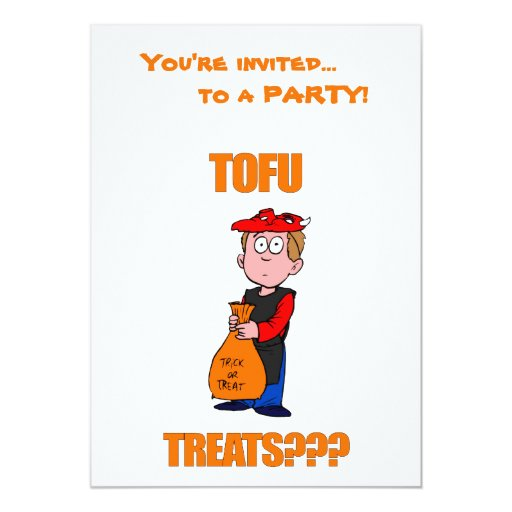 Funny Trick or Treat Halloween Custom Invitation