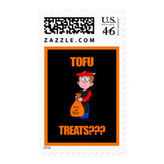 Funny Trick or Treat Halloween Postage Stamp