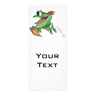 funny trick or treating pirate froggy frog custom rack card
