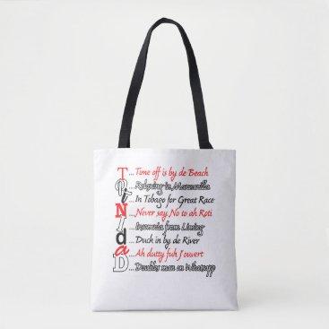 Beach Themed Funny Trini Description 3 Tote Bag