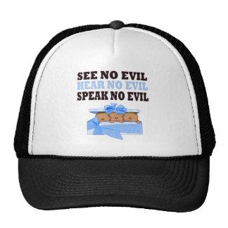 Funny Triplet Boys  (Speak Hear See No Evil ) Trucker Hat