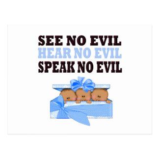 Funny Triplet Boys  (Speak Hear See No Evil ) Postcards