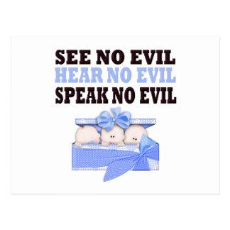 Funny Triplet Boys (Speak Hear See No Evil ) Post Card