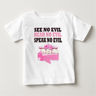 Funny Triplet Girls (Speak Hear See No Evil ) Baby T-Shirt
