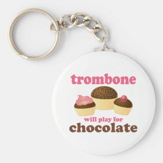 Funny Trombone Will Play for Chocolate Keychain