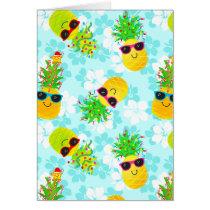 Funny Tropical Christmas Pineapples