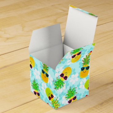 Funny Tropical Christmas Pineapples Favor Box