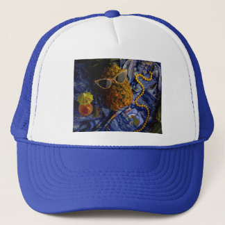 Funny Tropical Cool Pineapple Trucker Hat