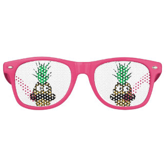 Funny Tropical Pineapple with Googly Eyes Mustache Wayfarer Sunglasses