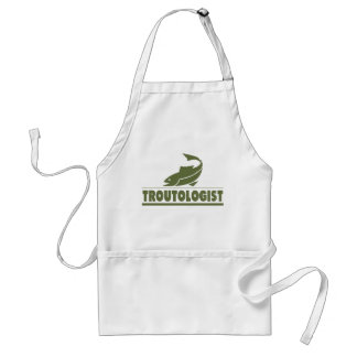 Funny Trout Fishing Adult Apron