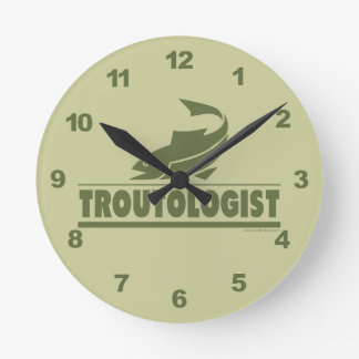Funny Trout Fishing Clock