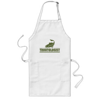 Funny Trout Fishing Long Apron