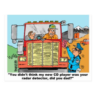 FUNNY TRUCK DRIVER'S GIFTS POSTCARD