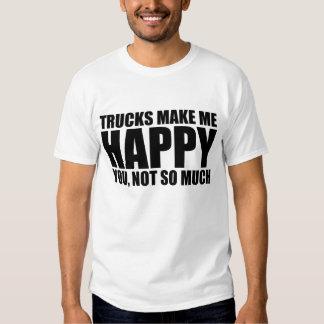 Funny truck saying: TRUCKS MAKE ME HAPPY Dresses