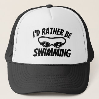 Funny trucker hat for swimmer and swim coach