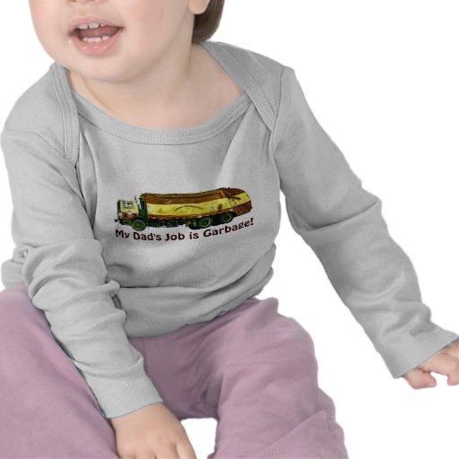 "Funny Trucker Kids Shirt ""My Dad's Job is Garbage!"