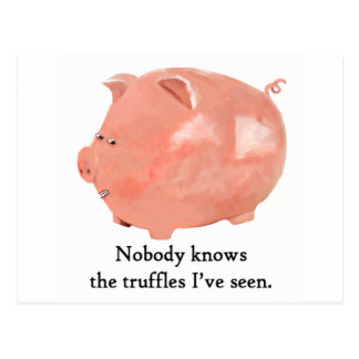 Funny Truffle loving Pig cards