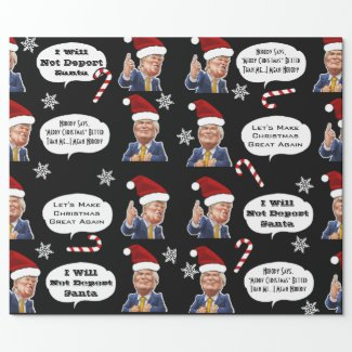 Funny Trump Christmas Wrapping Paper