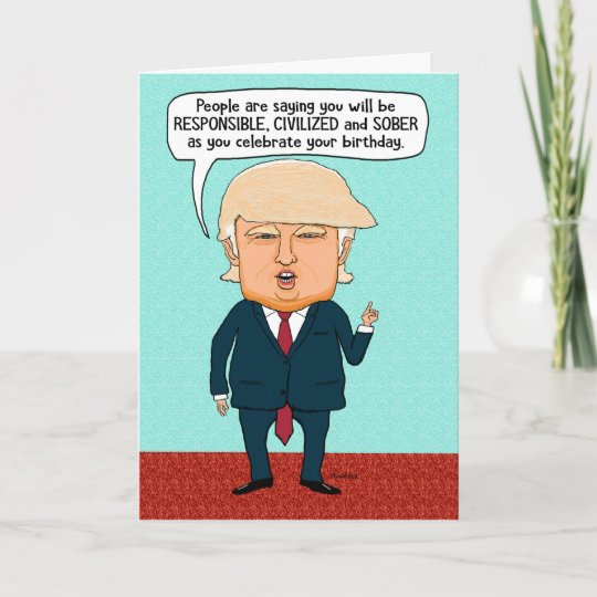 Funny Trump Fake News Birthday Card