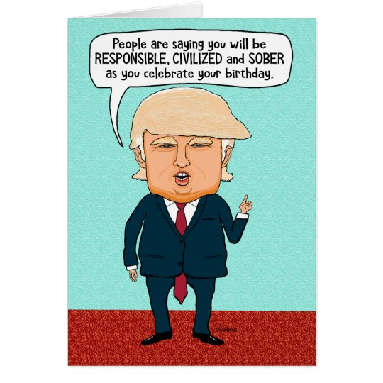 Amazon Com Funny Birthday Card Donald Trump Birthday: Funny Trump Fake News Birthday Card