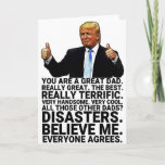 "Funny Trump Father Birthday Card<br><div class=""desc"">Funny Trump Father's Day Card,  Perfect Gift For Father's Day and Birthday. Personalize your own message!</div>"