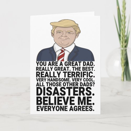 Funny Trump Fathers Day Card