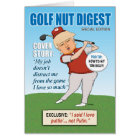 Funny Trump Golf Nut Birthday Card