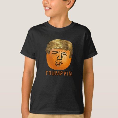 Funny Trump Halloween Trumpkin Pumpkin T_Shirt