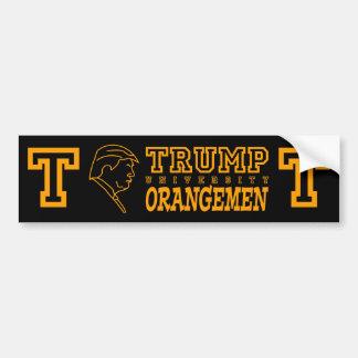 Funny Trump University Orangemen Athletic Teams Bumper Sticker