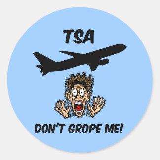 Funny TSA Classic Round Sticker