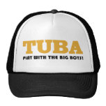 Funny Tuba Marching Band Cap Mesh Hat
