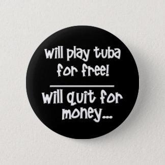 Funny Tuba Pinback Button