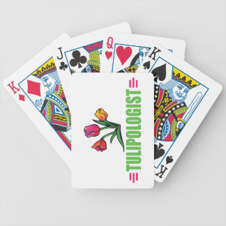 Funny Tulip Bicycle Playing Cards