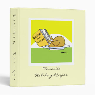 Funny Turkey Cartoon Thanksgiving Holiday Recipes Binder