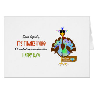 Funny Turkey Day Thanksgiving Greeting Card